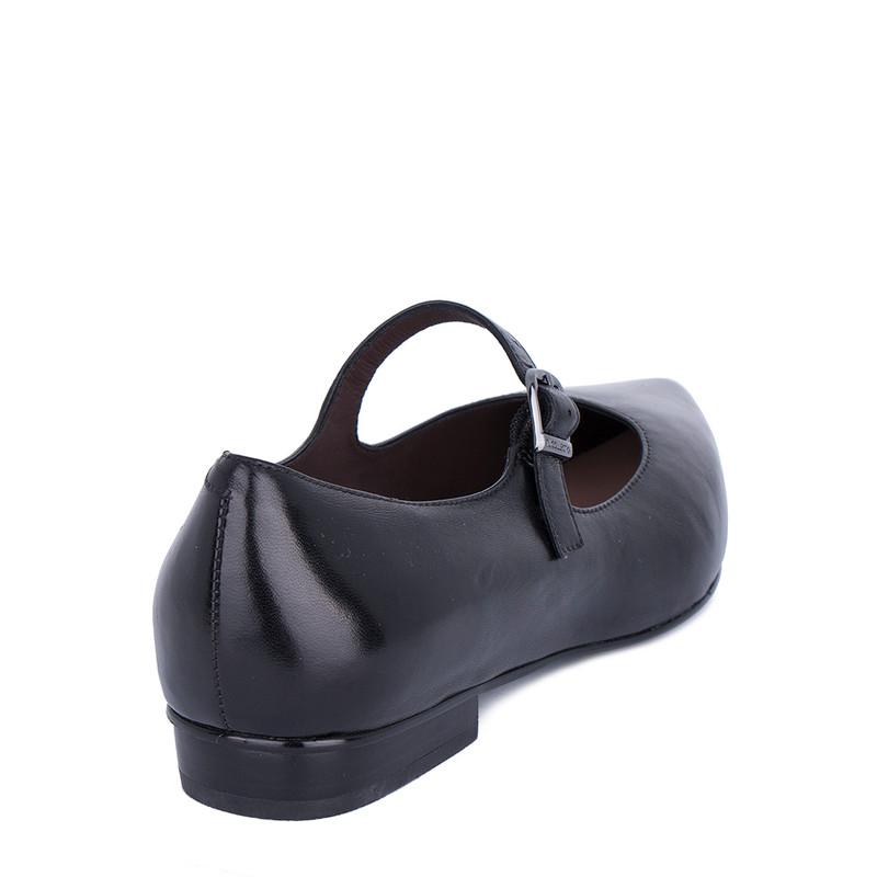 Women's Black Leather Mary-Jane Shoes GP 5221511 BLI