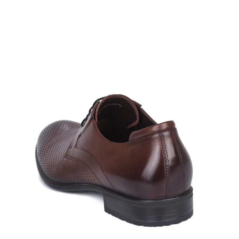 Men's Brown Leather Summer Derbies MP 7122110 CGA
