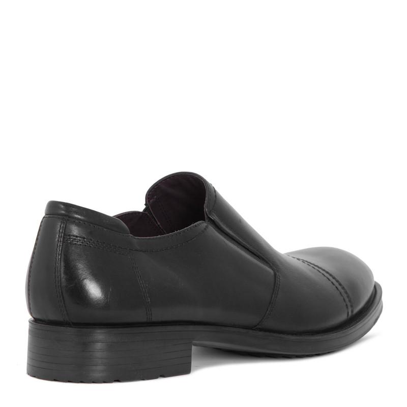Men's Sleek Black Leather Slip-On Shoes MP 7298715 BLK