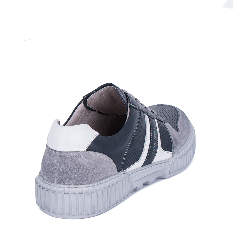 Men's Blue Leather Summer Sneakers TL 7224011 NVG