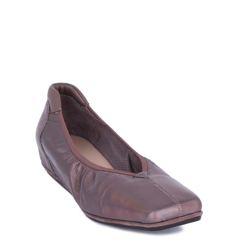 Women's Metallic Leather Ballet Shoes VR 5218811 TPZ