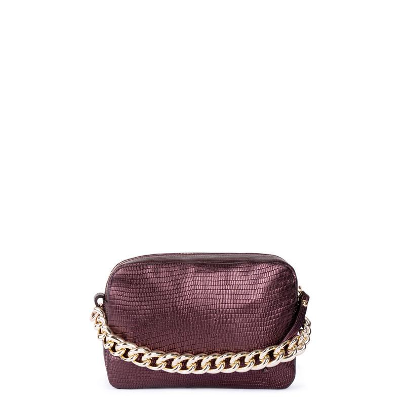 Burgundy Leather Bag Rimini YG 5104111 BDZ