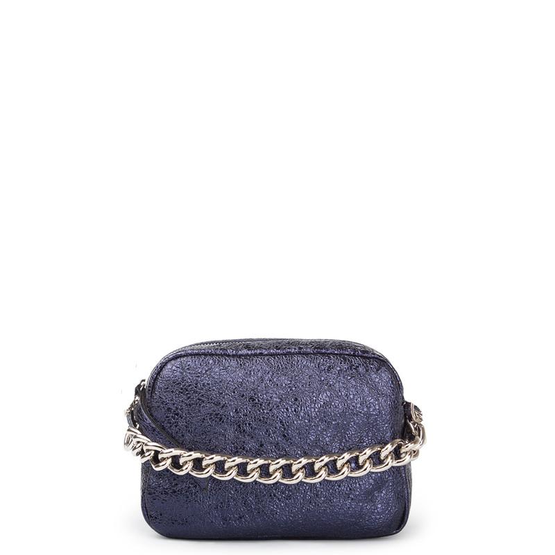 Graphite Blue Miniature Leather Bag Rimini YG 5104111 NVZ