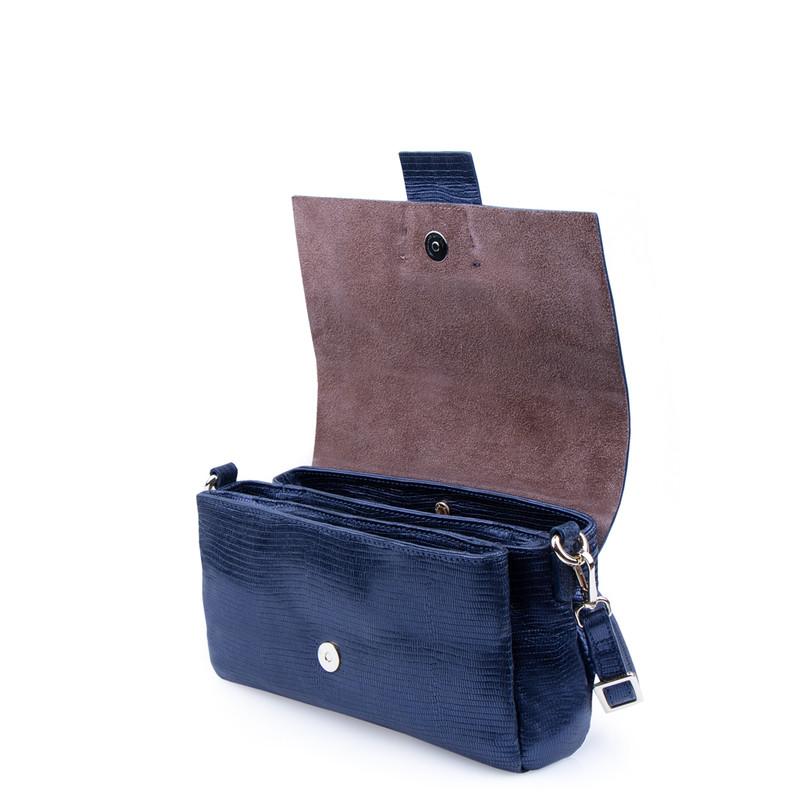 Blue Leather Saint-Tropez Bag YG 5152811 NVZ