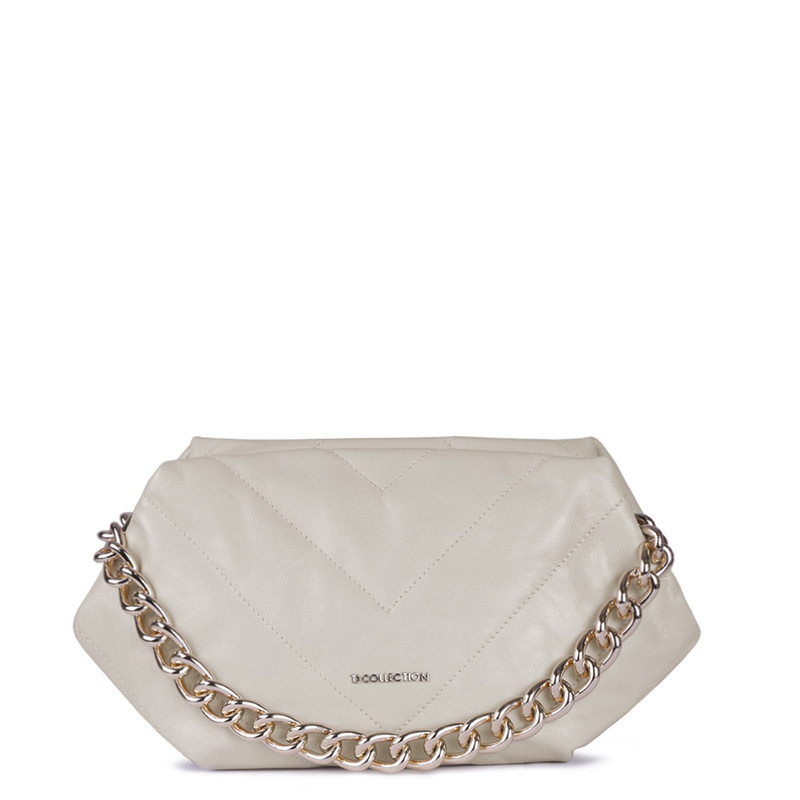 Beige Quilted Leather Pouch Bag Alessandria YG 5268811 BGZ