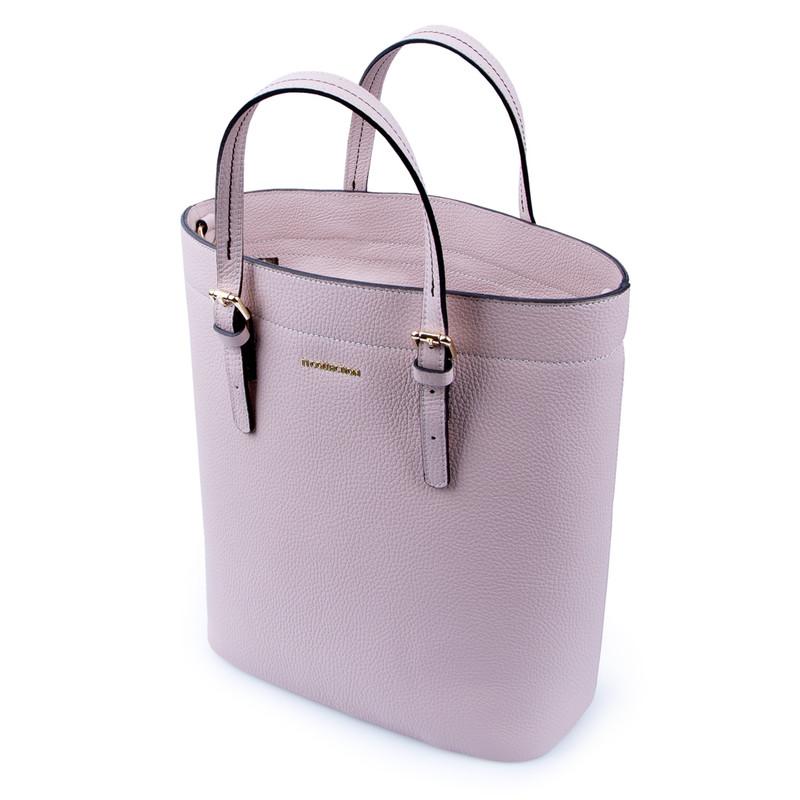 Powder Beige Leather Tote Bag YG 5468011 BGB