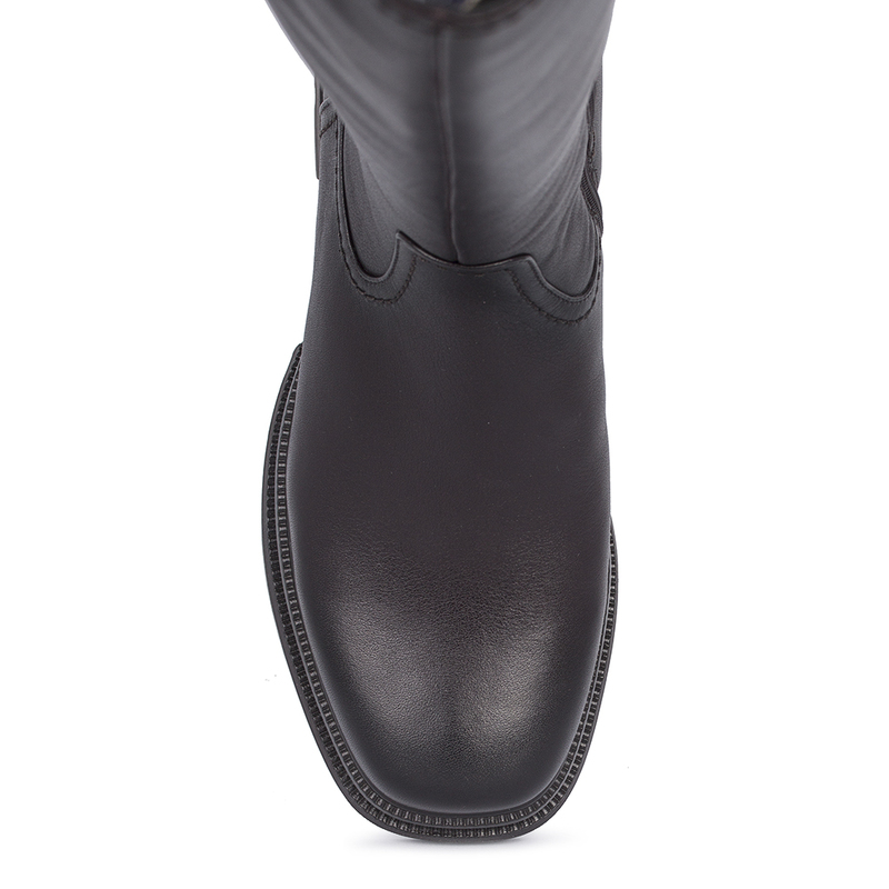 Women's Smooth Blueberry Leather Long Boots GD 5620211 DVA