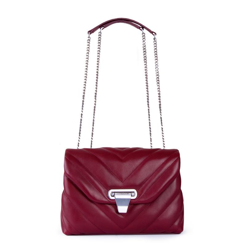 Women's Burgundy Leather Vittoria Bag YT 5218811 RDI