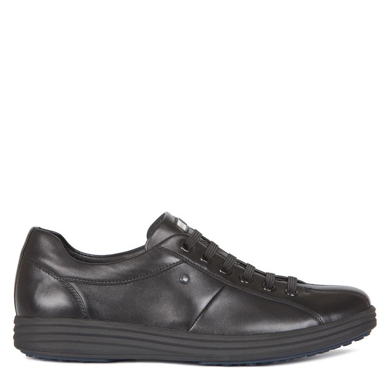 Men's Elasicated Laces Black Sneakers GK 7207117 BLK