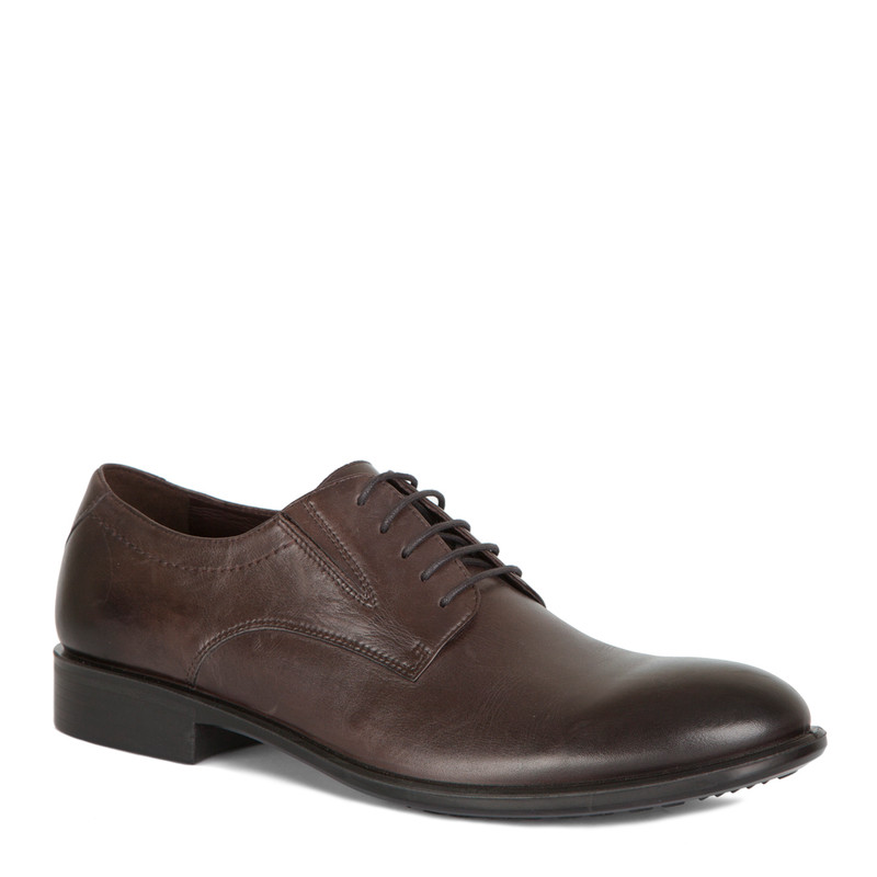 Classic Derbies in Brown Leather | TJ COLLECTION | Side Image - 1