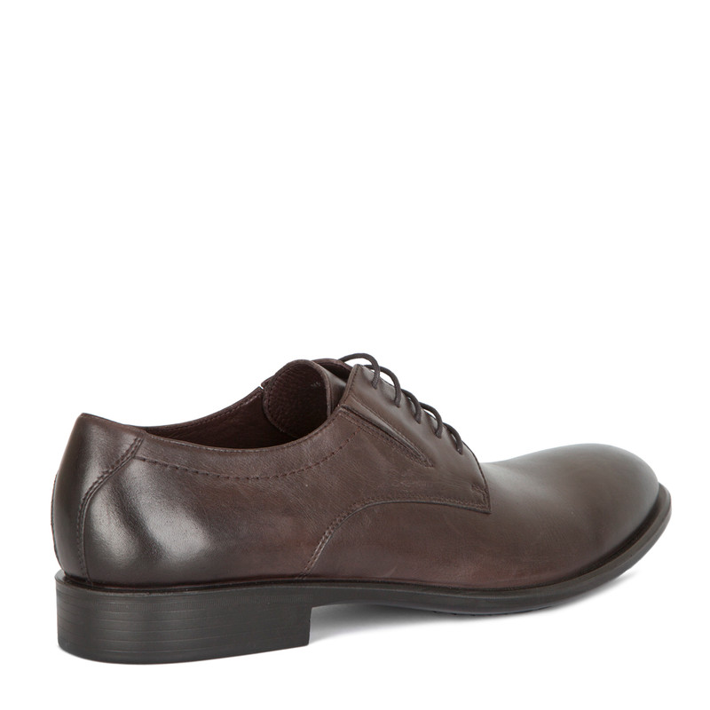 Classic Derbies in Brown Leather | TJ COLLECTION | Side Image - 2
