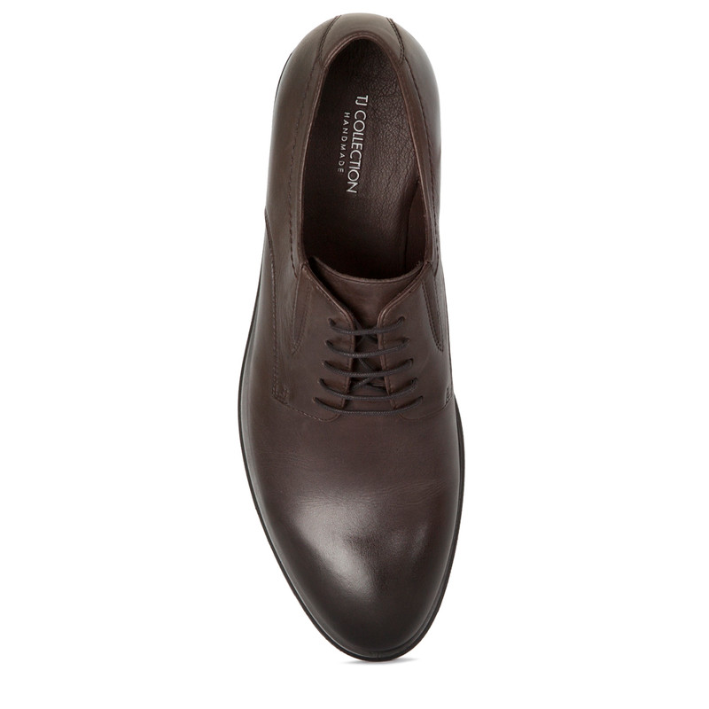 Classic Derbies in Brown Leather | TJ COLLECTION | Side Image - 3