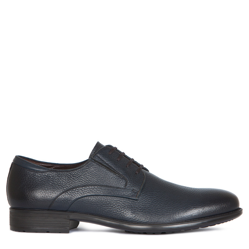 Men's Grained Leather Classic Derby Shoes MP 7294016 NVB