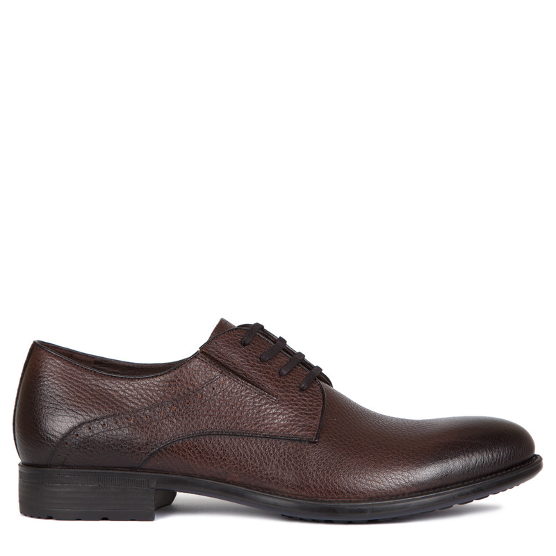 Derby Shoes in Brown Grain Leather | TJ COLLECTION | Main Image