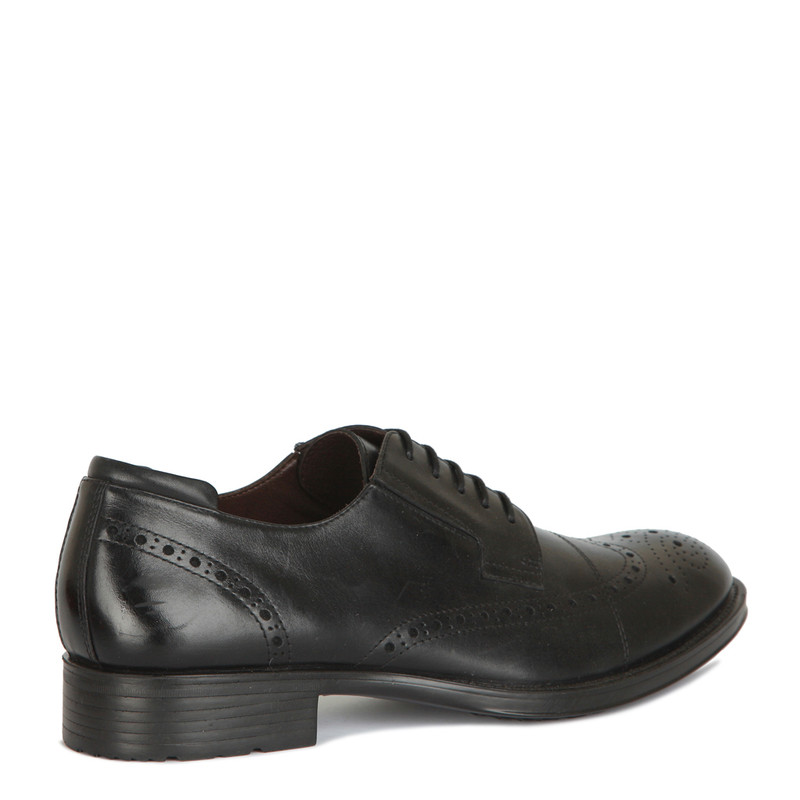 Classic Brogues in Black Leather | TJ COLLECTION | Side Image - 2