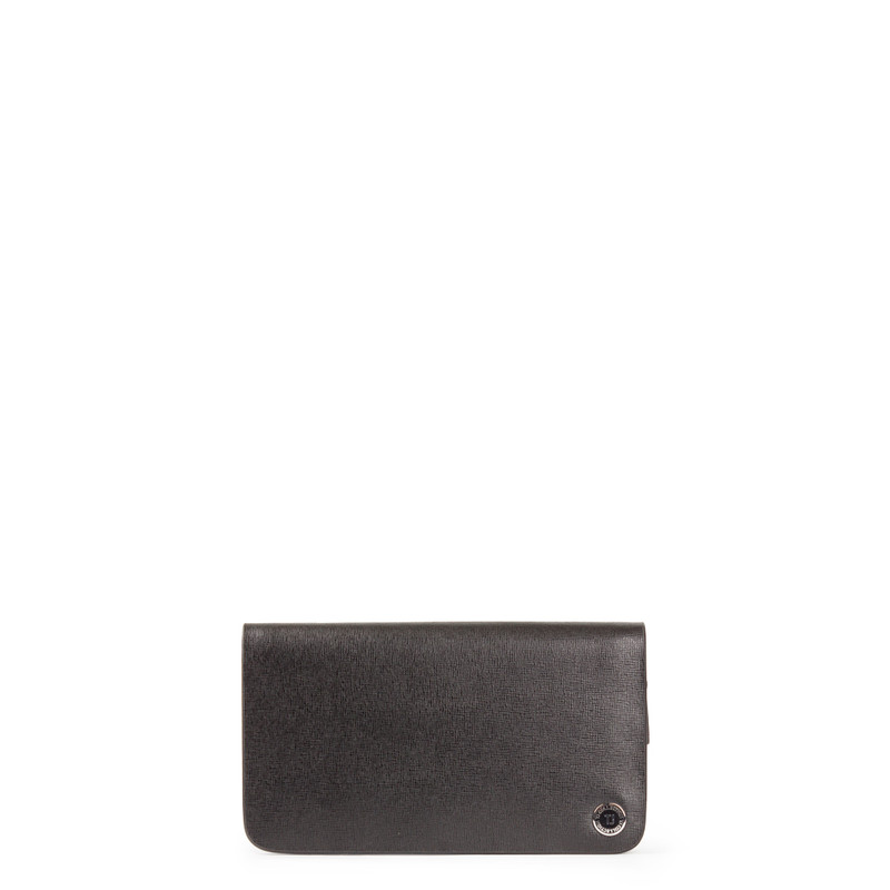 Black Textured Leather Clutch XH 8119913 BLK