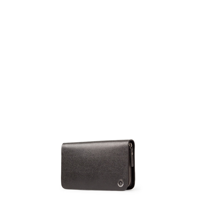 Black Textured Leather Clutch XH 8119913 BLK | TJ COLLECTION | Side Image - 1