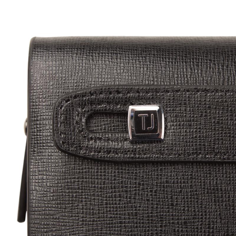 Black Textured Leather London Clutch XH 8119913 BLK