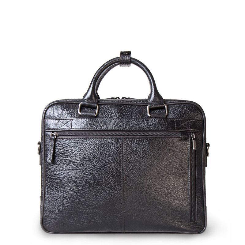 Brown Textured Leather Business Bag Oxford YH 8431316 DBI R | TJ COLLECTION | Side Image - 2