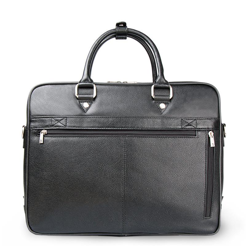 Black Grained Leather Travel Bag YH 8471312 BLK | TJ COLLECTION | Side Image - 2