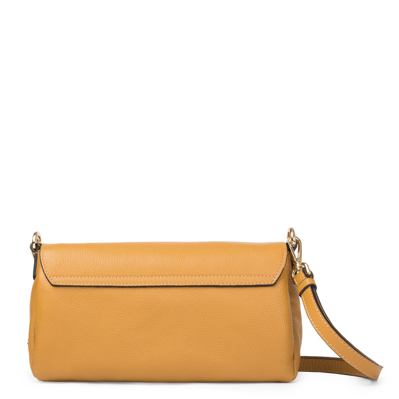 Yellow Leather Shoulder Bag Monte-Carlo YG 5152517 YLG | TJ COLLECTION | Side Image - 2