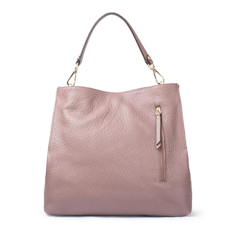 Dusted Rose Grained Leather Boho Bag Barcelona YG 5368017 TPA   TJ COLLECTION   Side Image - 3