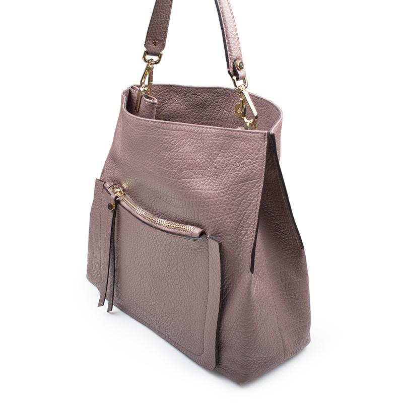 Dusted Rose Grained Leather Boho Bag Barcelona YG 5368017 TPA   TJ COLLECTION   Side Image - 4
