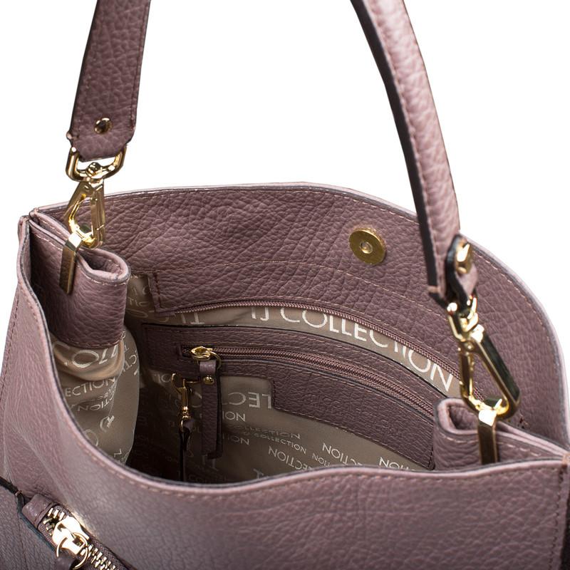 Dusted Rose Grained Leather Boho Bag Barcelona YG 5368017 TPA