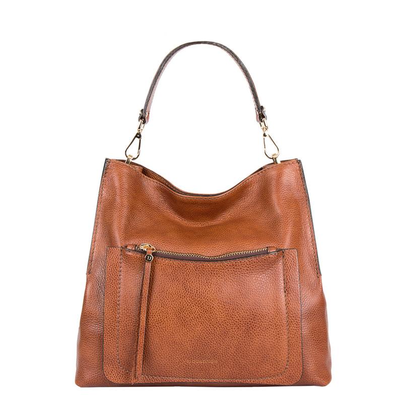 Grained Leather Boho Bag Barcelona YG 5368015 CGA