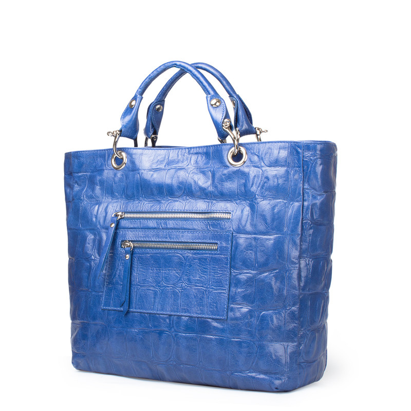 Reptile Embossed Leather Tote Bag Florence YG 5481317 BUC | TJ COLLECTION | Side Image - 1