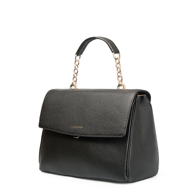 Grained Leather Structured Satchel Bag Lausanne YT 5338017 BLI | TJ COLLECTION | Side Image - 1