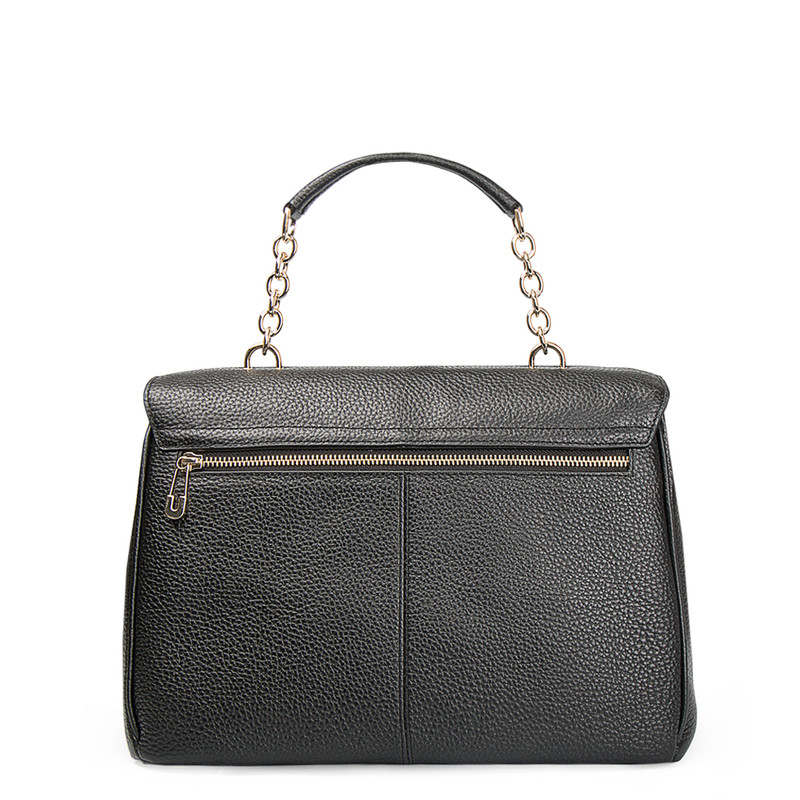 Grained Leather Structured Satchel Bag Lausanne YT 5338017 BLI | TJ COLLECTION | Side Image - 2