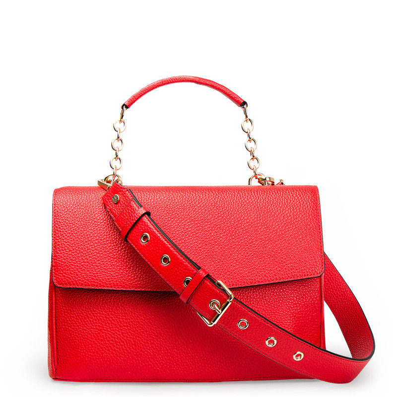 Red Structured Satchel Bag Lausanne YT 5338017 RED