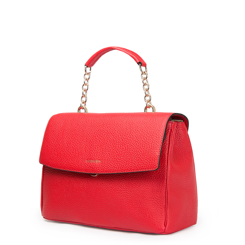 Red Structured Satchel Bag Lausanne YT 5338017 RED | TJ COLLECTION | Side Image - 1