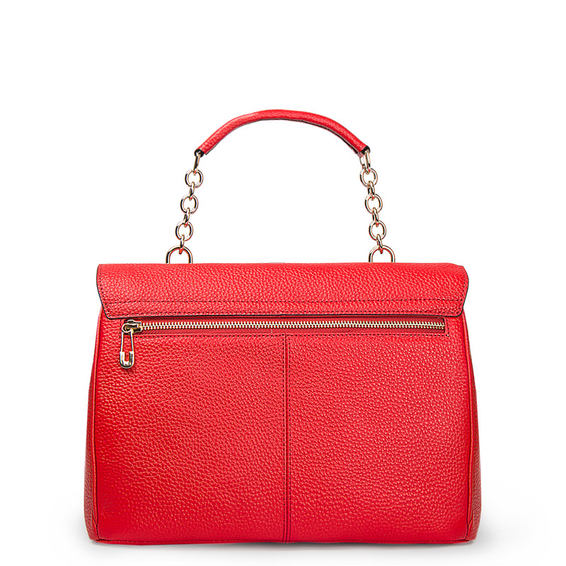 Red Structured Satchel Bag Lausanne YT 5338017 RED | TJ COLLECTION | Side Image - 2