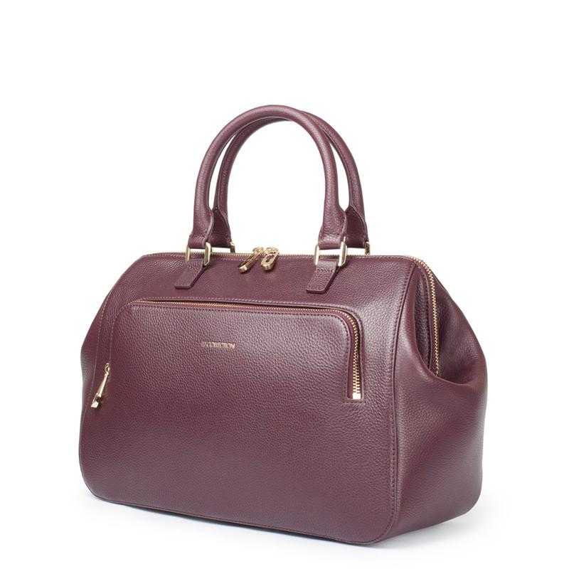 Bordo Leather Doctor Bag XT 5449017 BDA | TJ COLLECTION | Side Image - 1