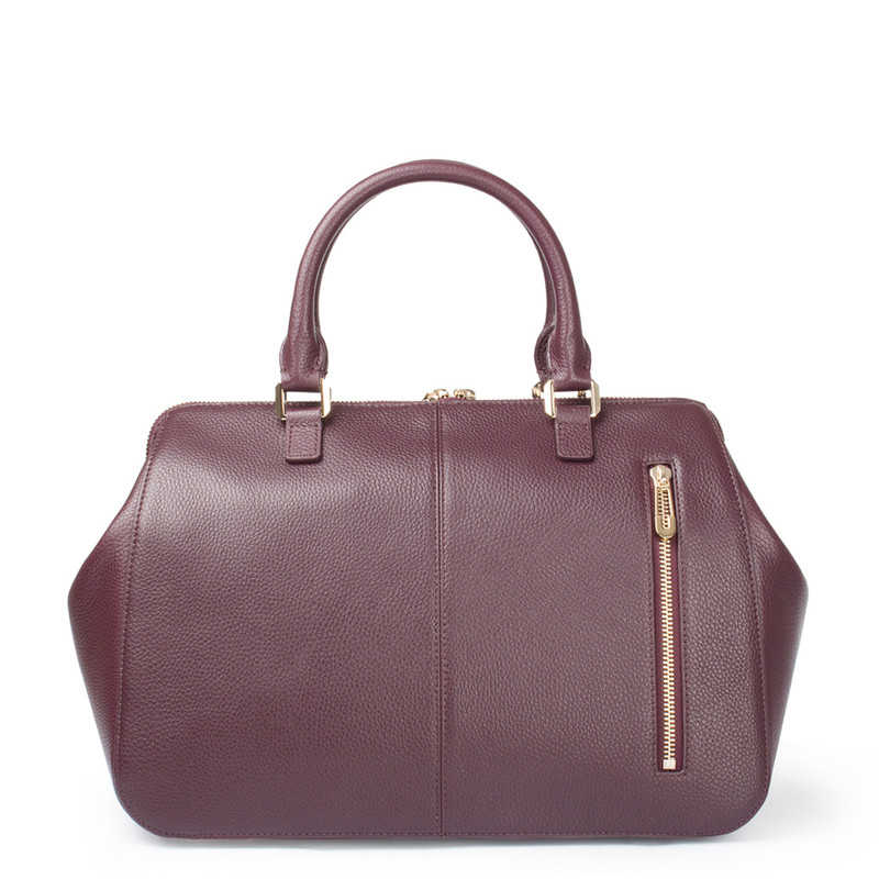 Bordo Leather Doctor Bag XT 5449017 BDA | TJ COLLECTION | Side Image - 2