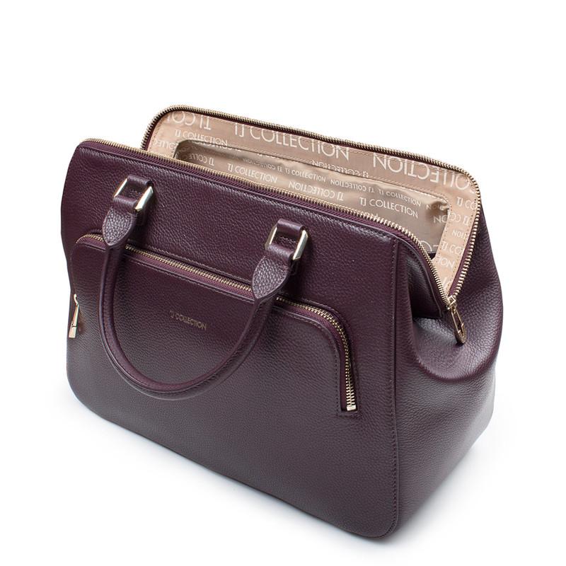 Bordo Leather Doctor Bag XT 5449017 BDA | TJ COLLECTION | Side Image - 3