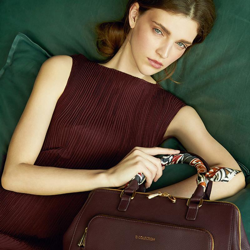 Bordo Leather Doctor Bag XT 5449017 BDA | TJ COLLECTION | Side Image - 4