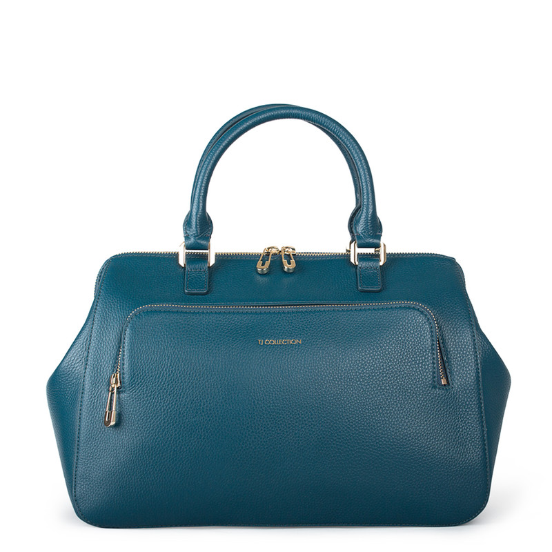 Teal Grained Leather Doctor Bag XT 5449017 GNI