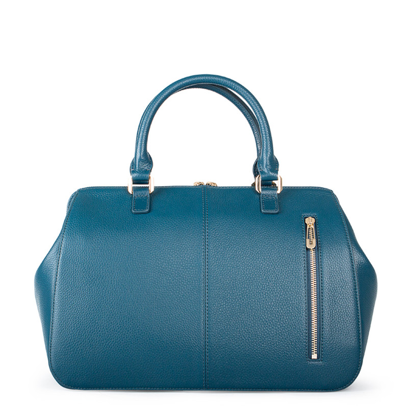 Teal Grained Leather Doctor Bag XT 5449017 GNI | TJ COLLECTION | Side Image - 2