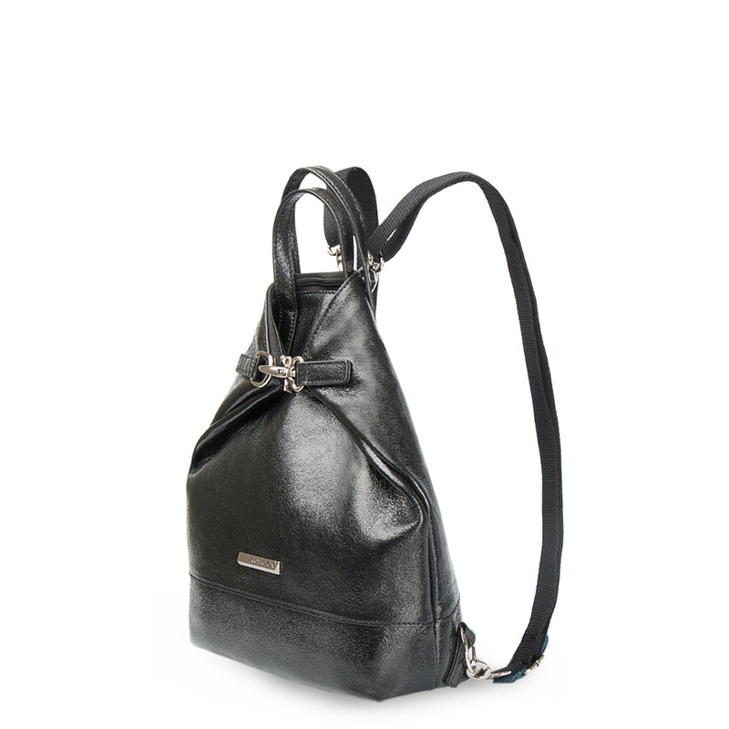 Transformer Cracked-Leather Backpack Torbole YH 8339137 BLP R | TJ COLLECTION | Side Image - 1