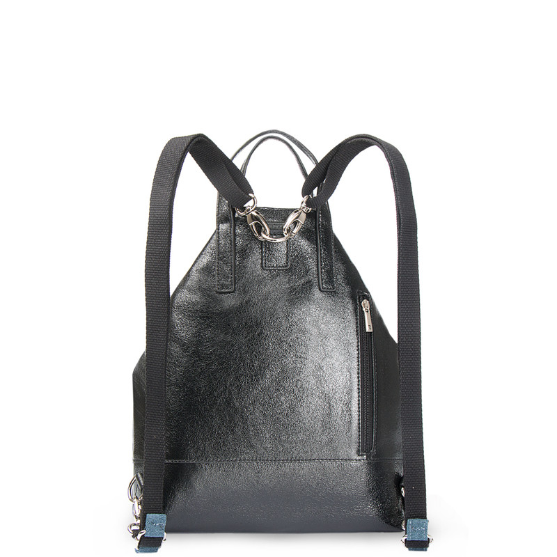 Transformer Cracked-Leather Backpack Torbole YH 8339137 BLP R | TJ COLLECTION | Side Image - 2