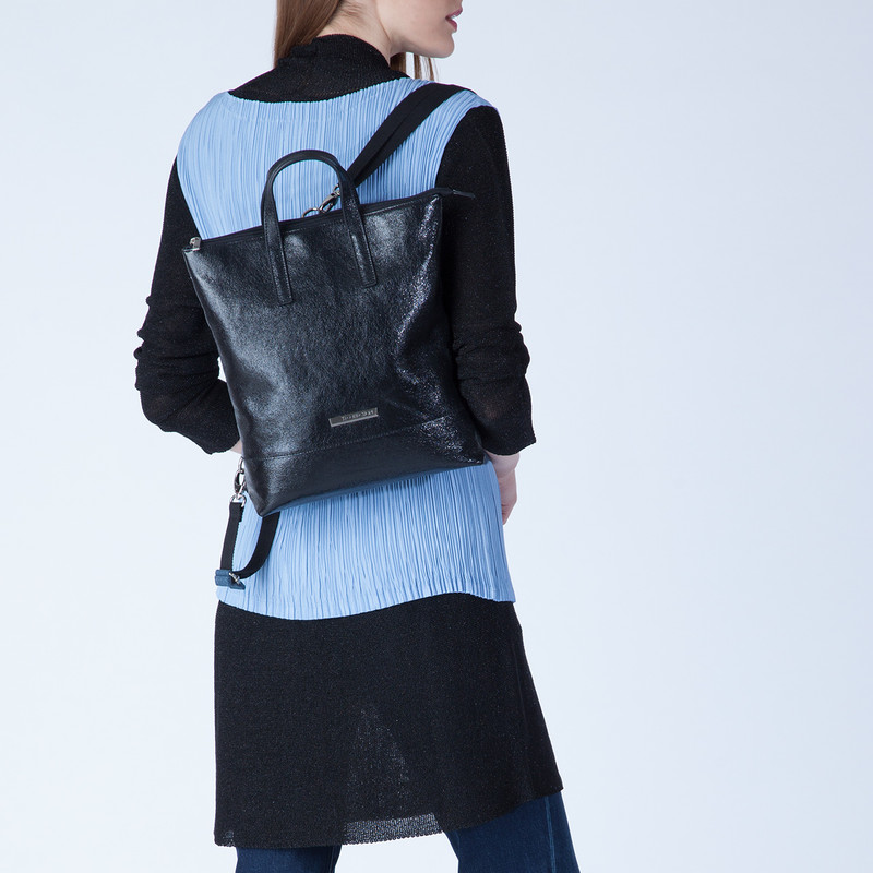 Transformer Cracked-Leather Backpack Torbole YH 8339137 BLP R | TJ COLLECTION | Side Image - 4