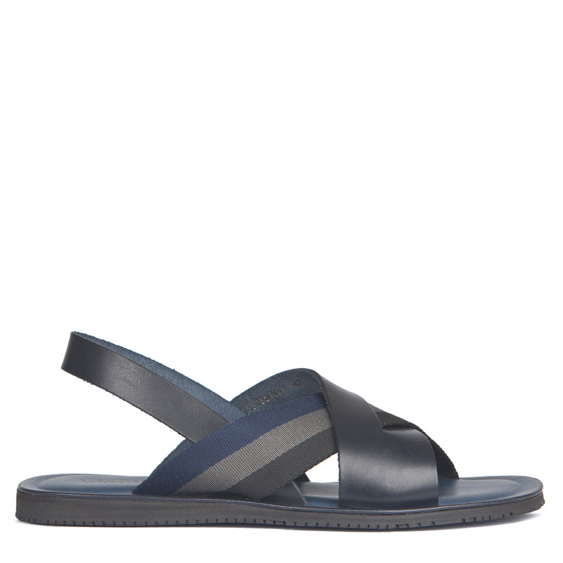 Men's Criss-Cross Strap Sandals GA 7155238 NVY