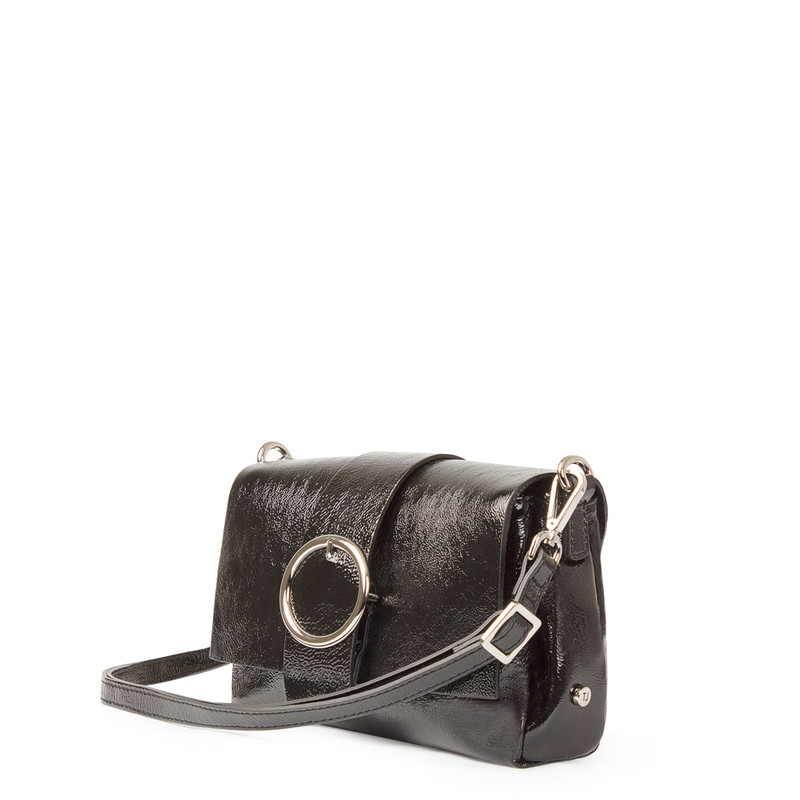 Patent Leather Shoulder Bag Saint-Tropez YG 5152618 BLZ | TJ COLLECTION | Side Image - 1