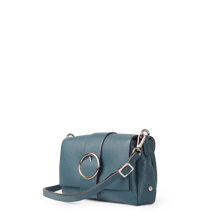 Turquoise Grained Leather Shoulder Bag Saint-Tropez YG 5152618 DGN | TJ COLLECTION | Side Image - 1