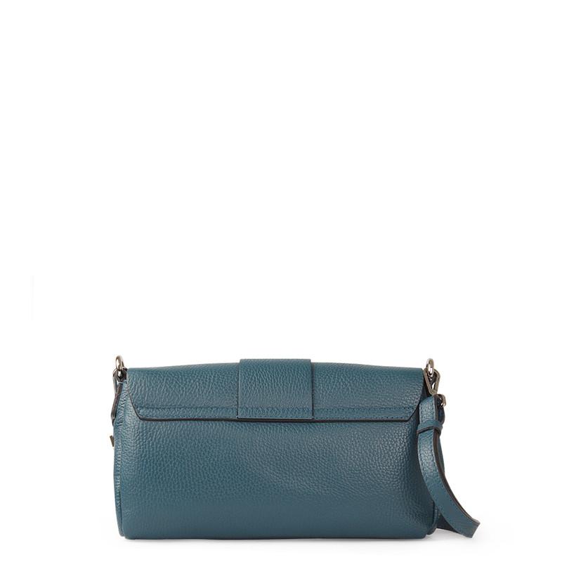 Turquoise Grained Leather Shoulder Bag Saint-Tropez YG 5152618 DGN | TJ COLLECTION | Side Image - 2