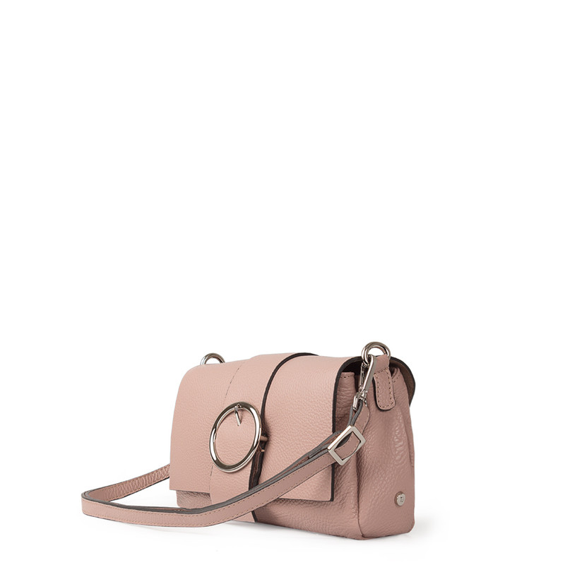 Pink Grained Leather Shoulder Bag Saint-Tropez YG 5152618 PNA | TJ COLLECTION | Side Image - 1