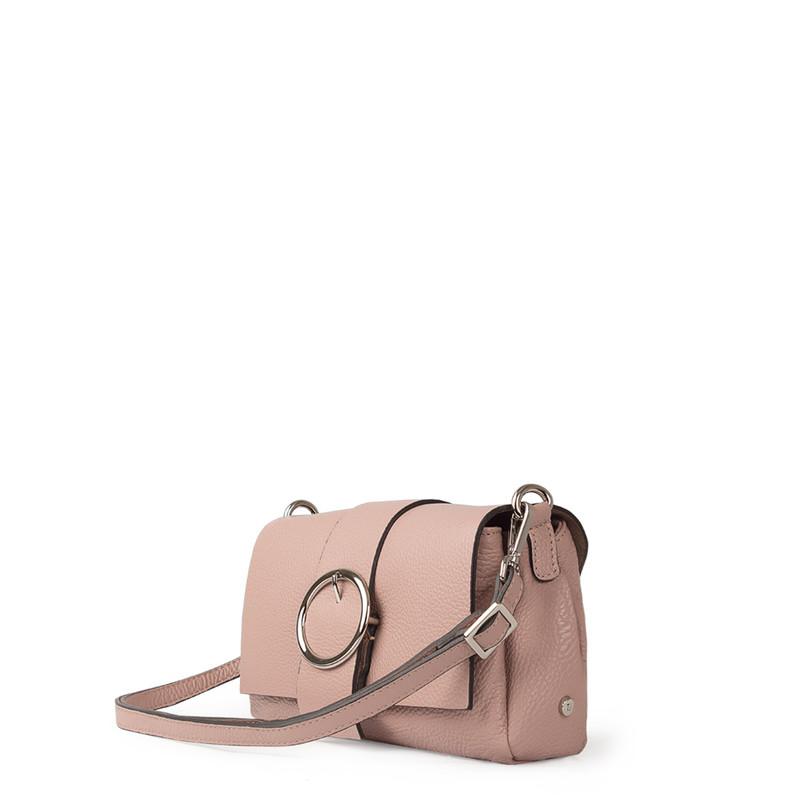 Pink Grained Leather Shoulder Bag Saint-Tropez YG 5152618 PNA | TJ COLLECTION | Side Image - 1
